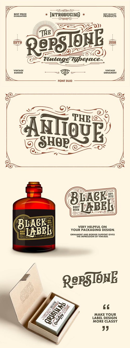 Ropstone Vintage Style & Bold Display Font