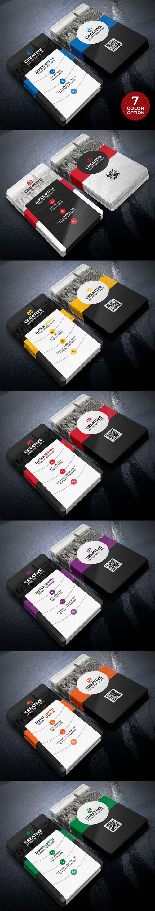 Creative Business Cards PSD Templates Bundle