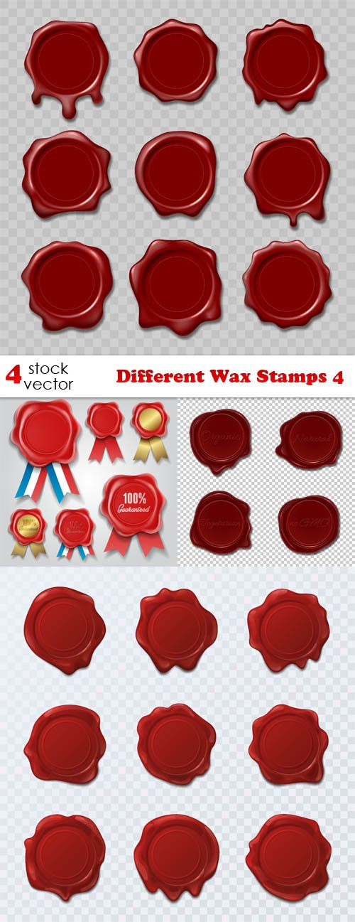 Vectors - Different Wax Stamps 4