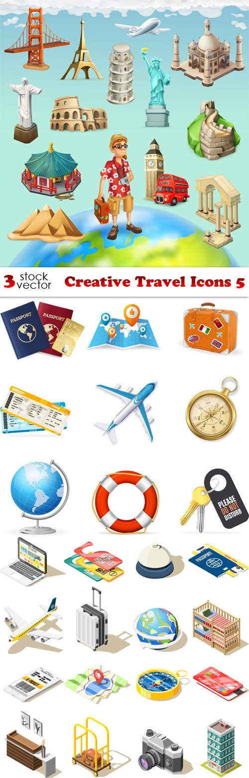 Vectors - Creative Travel Icons 5