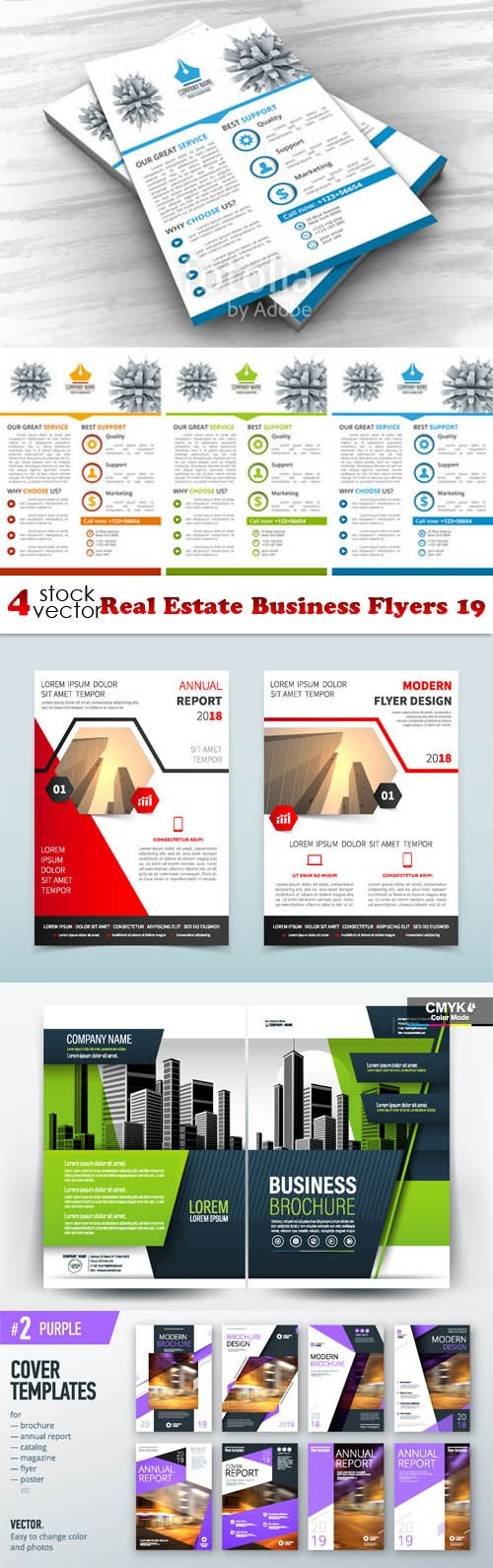 Vectors - Real Estate Business Flyers 19