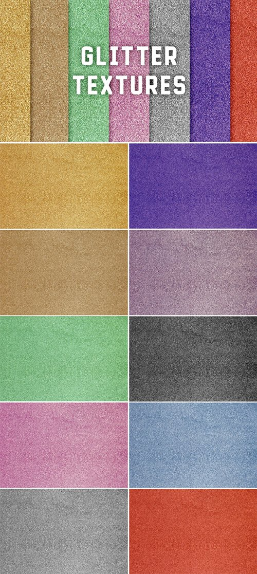 10 Glitter Textures Pack