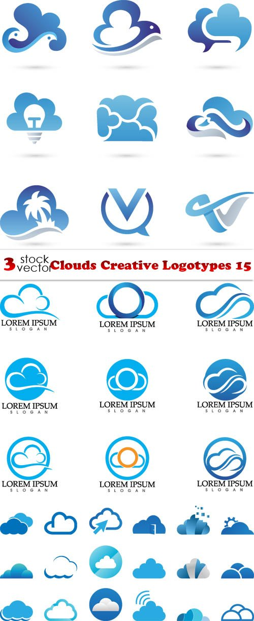 Vectors - Clouds Creative Logotypes 15