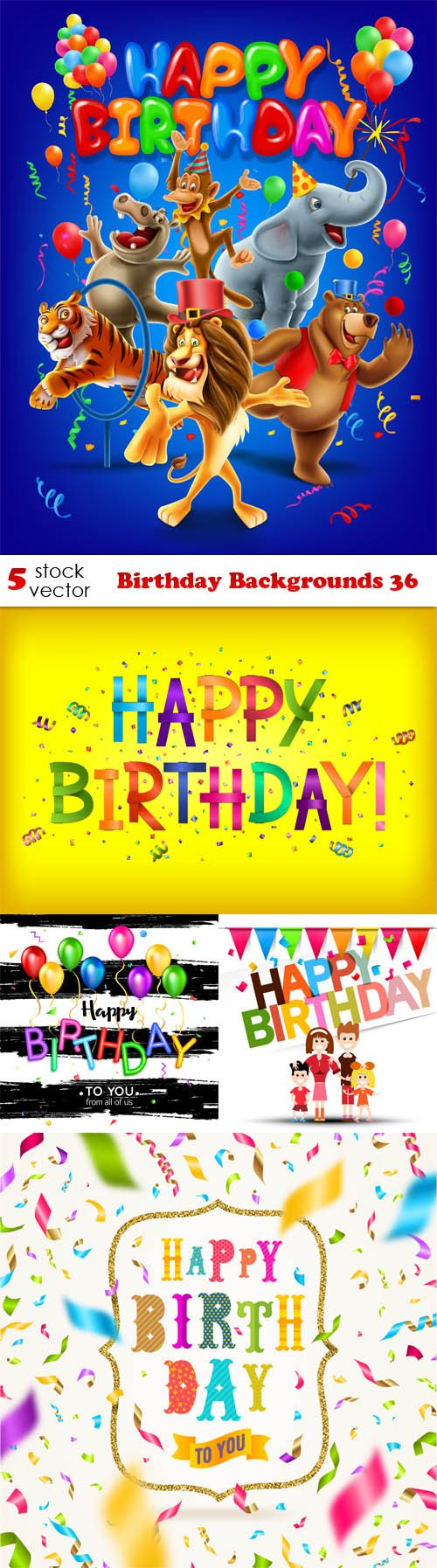 Vectors - Birthday Backgrounds 36