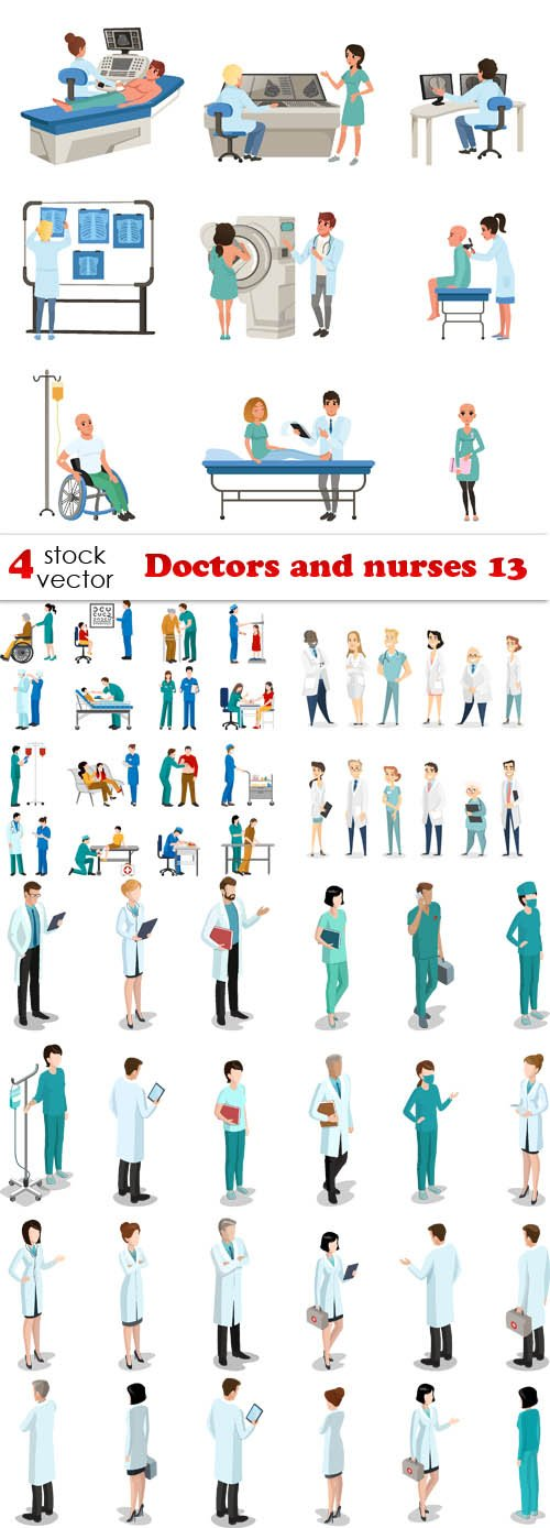 Vectors - Doctors and nurses 13