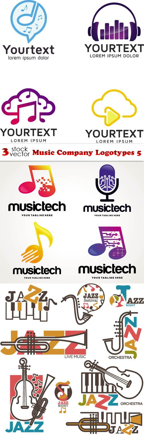 Vectors - Music Company Logotypes 5