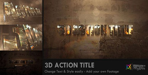 3D Action Title Opener - Project for After Effects (Videohive)