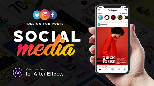 Social Media - Design for Posts - Project for After Effects (Videohive)