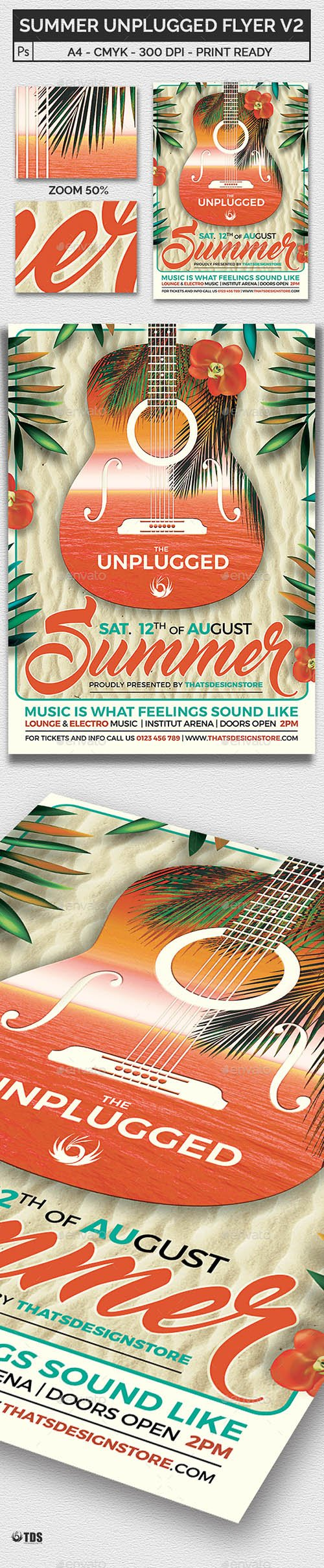 Summer Unplugged Flyer Template V2
