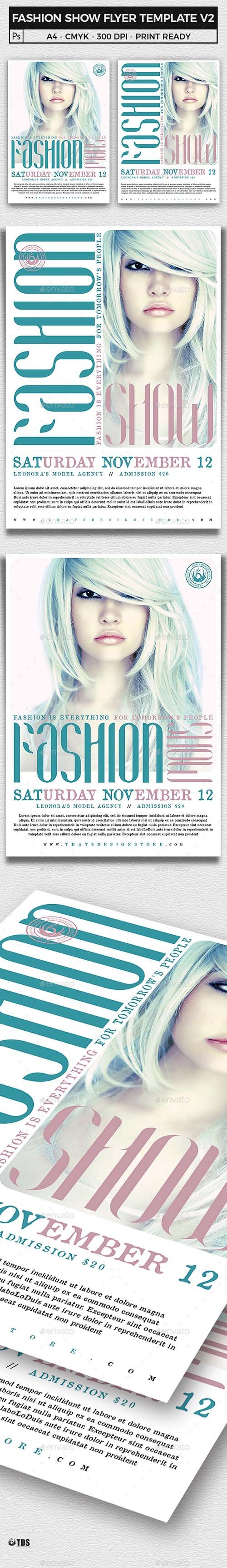 fashion show flyer template v2 15801140 nitrogfx download unique graphics for creative designers. Black Bedroom Furniture Sets. Home Design Ideas