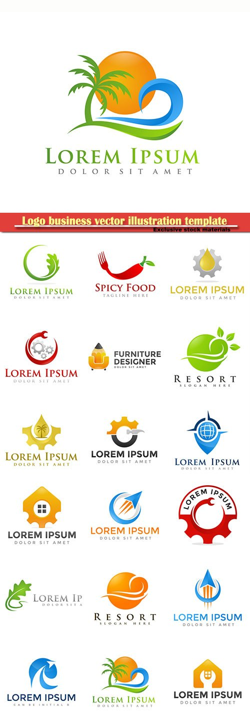 Logo business vector illustration template # 86