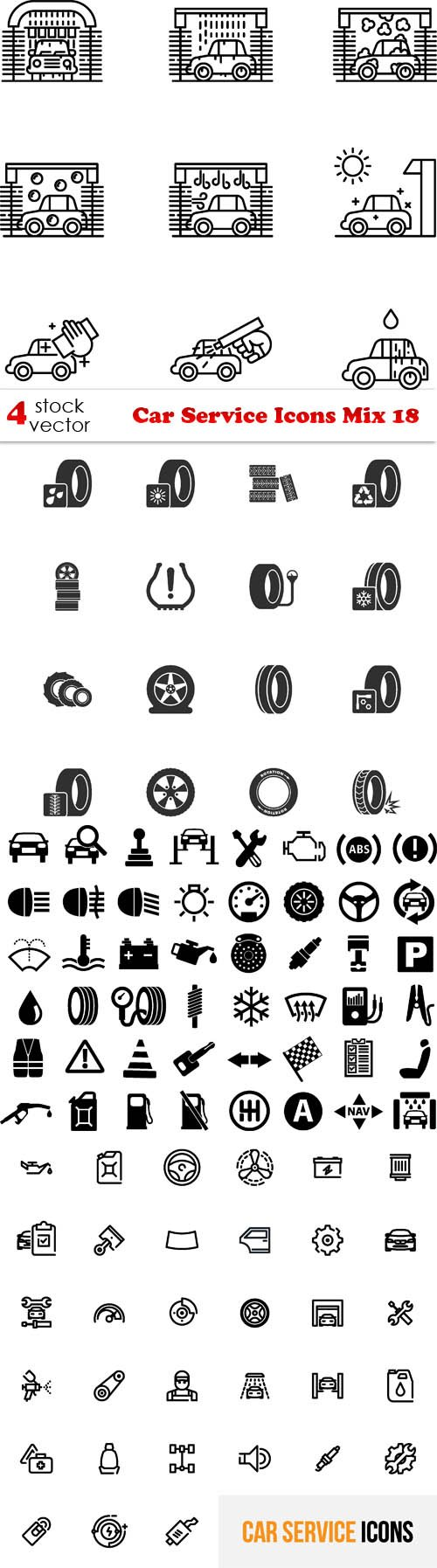 Vectors - Car Service Icons Mix 18