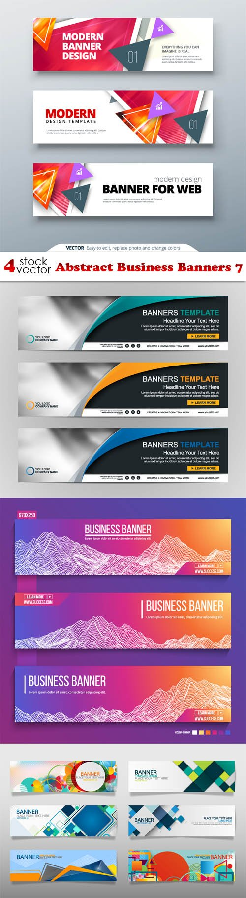 Vectors - Abstract Business Banners 7