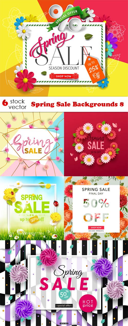Vectors - Spring Sale Backgrounds 8