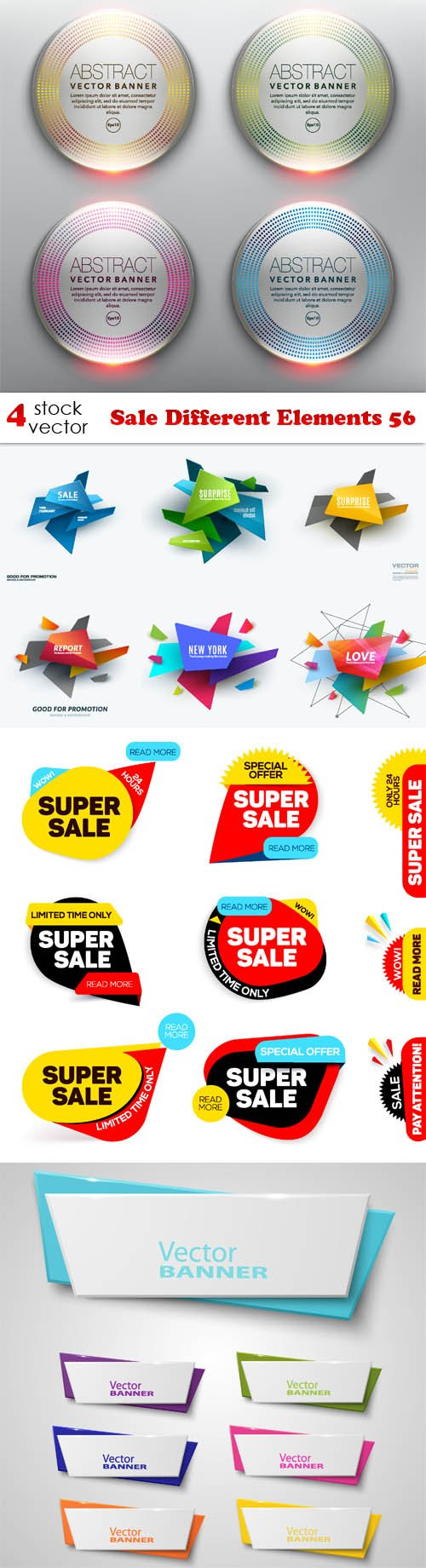 Vectors - Sale Different Elements 56