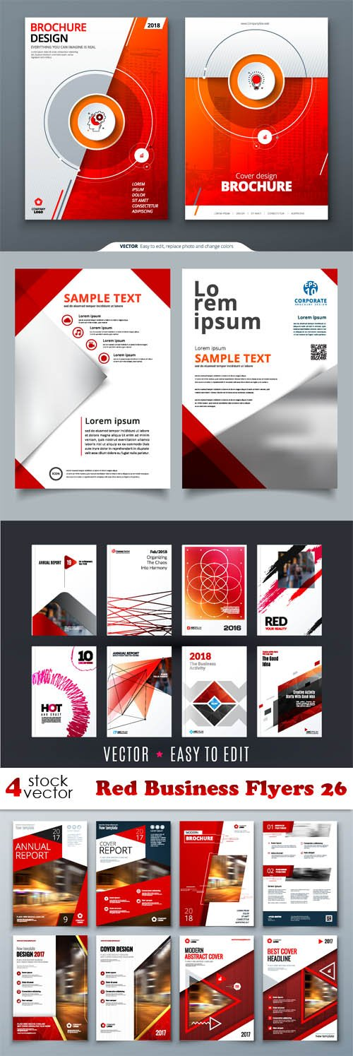 Vectors - Red Business Flyers 26