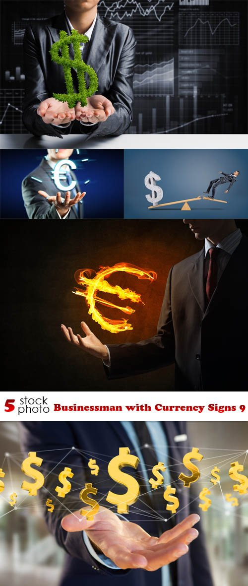 Photos - Businessman with Currency Signs 9