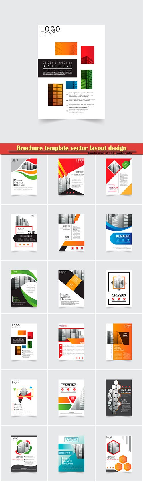 Brochure template vector layout design, corporate business annual report, magazine, flyer mockup # 148