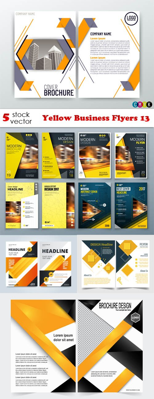 Vectors - Yellow Business Flyers 13