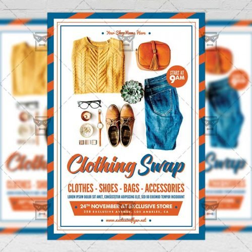 Community A5 Flyer/Poster Template - Clothing Swap
