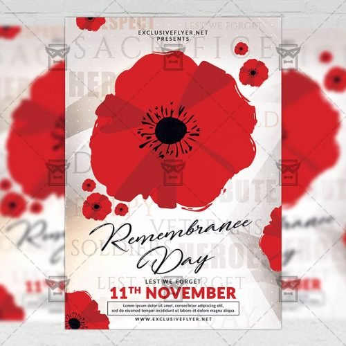 Seasonal A5 Flyer Template - Remembrance Day