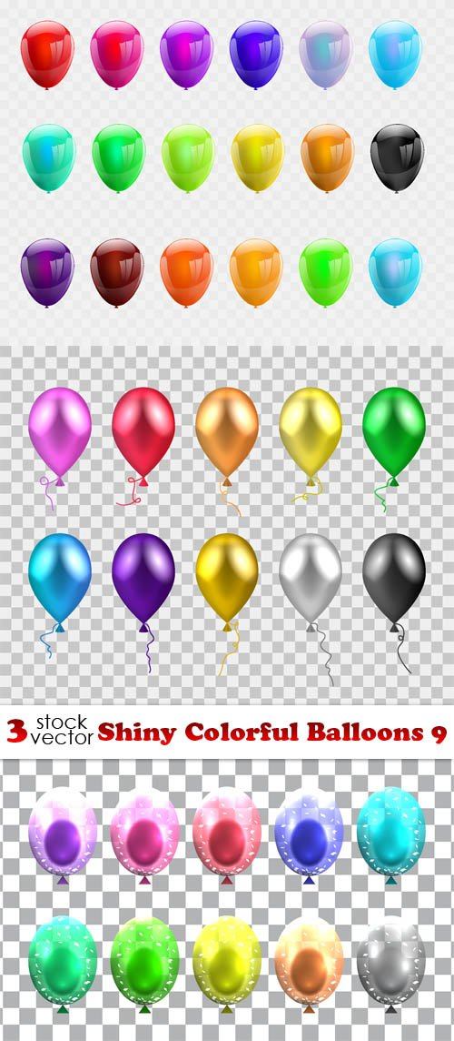 Vectors - Shiny Colorful Balloons 9