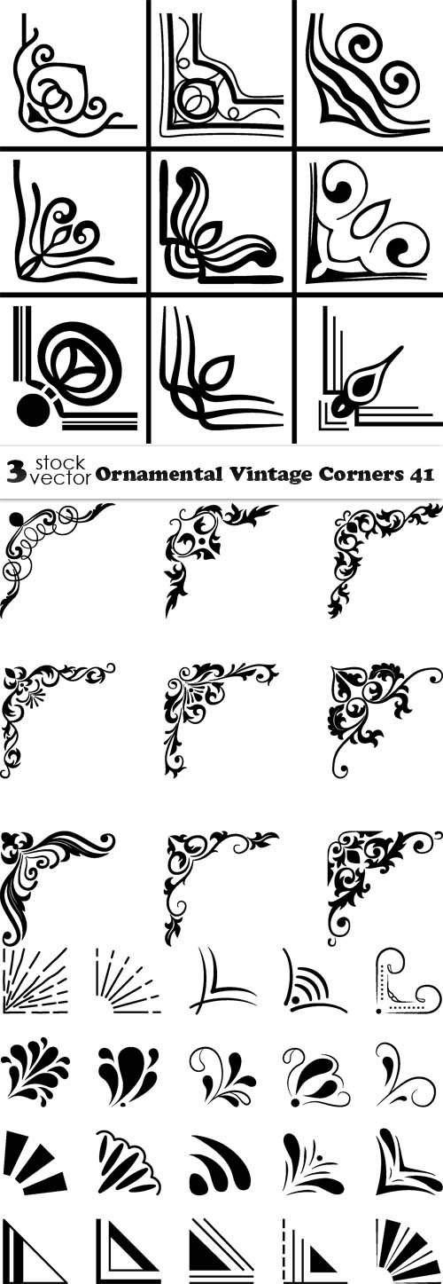 Vectors - Ornamental Vintage Corners 41