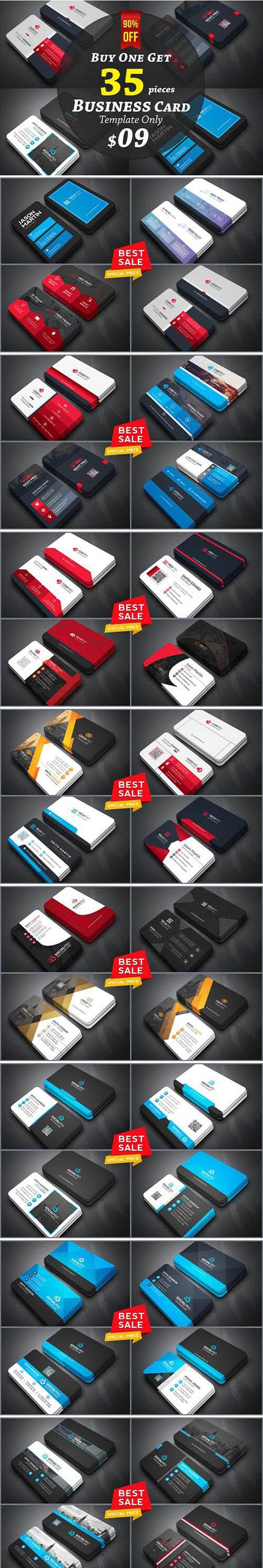35 Business Cards Bundle 90% off 2102015