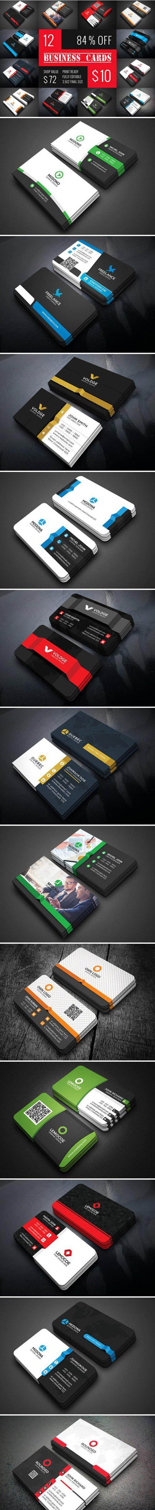 12 Business Card Bundle 2135991