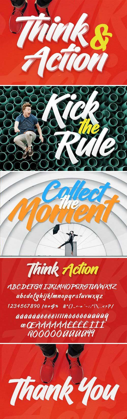 Think Action font 2335668