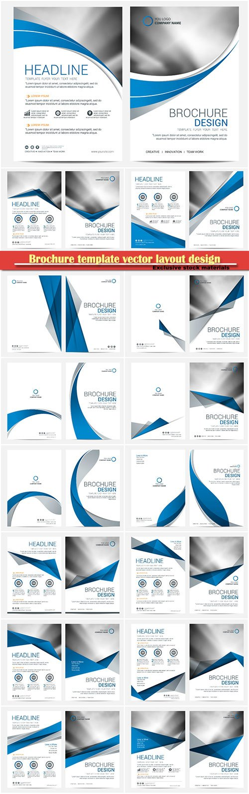 Brochure template vector layout design, corporate business annual report, magazine, flyer mockup # 152