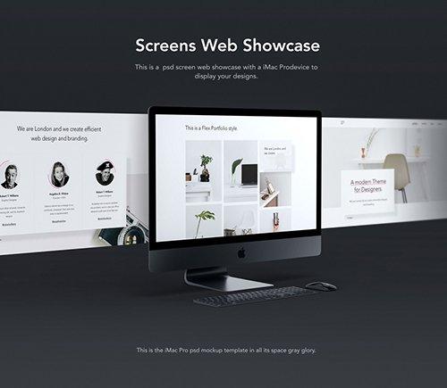 Screen iMac Pro Mockup