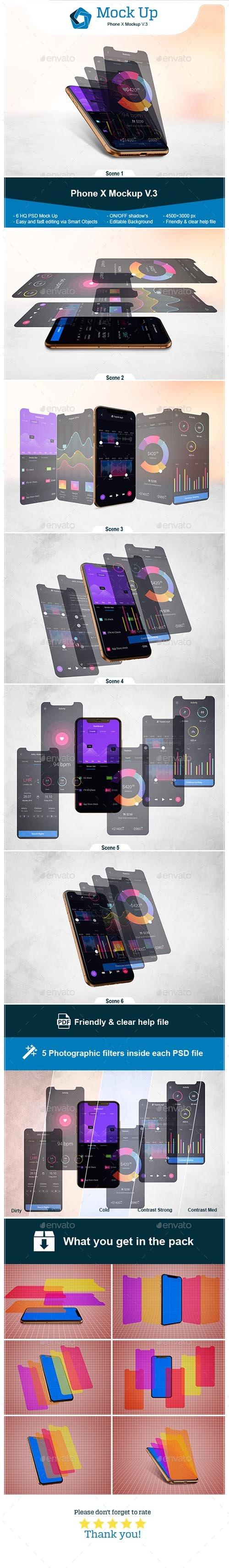 Phone X Mockup V.3 21670721