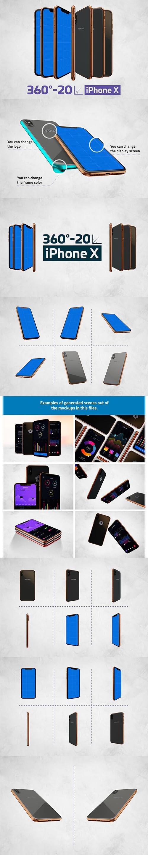 iPhone X Kit Mockup