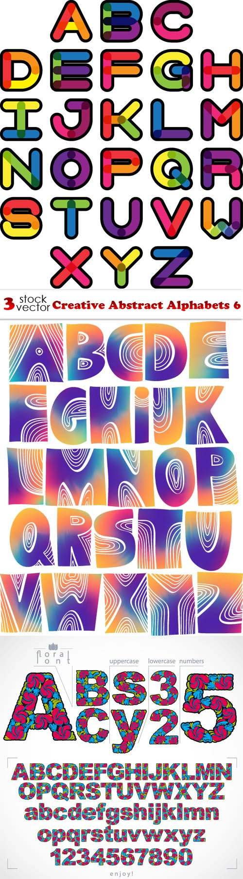 Vectors - Creative Abstract Alphabets 6