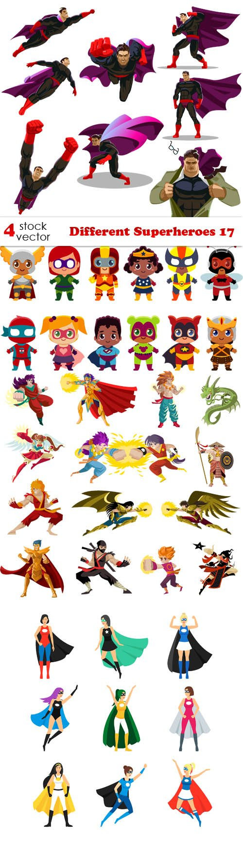 Vectors - Different Superheroes 17