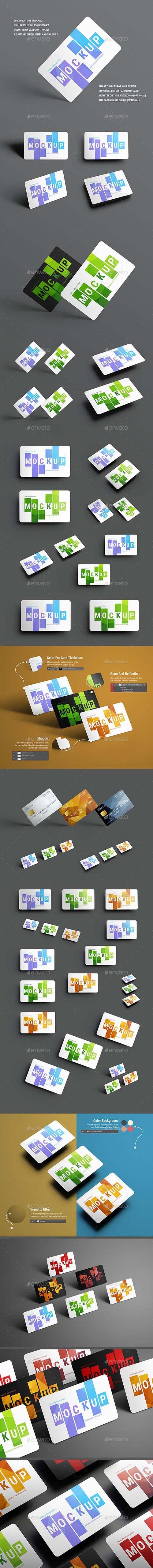 30 Mockups Universal For Gift and Bank Cards