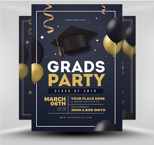 PSD - Graduation Party Template v4