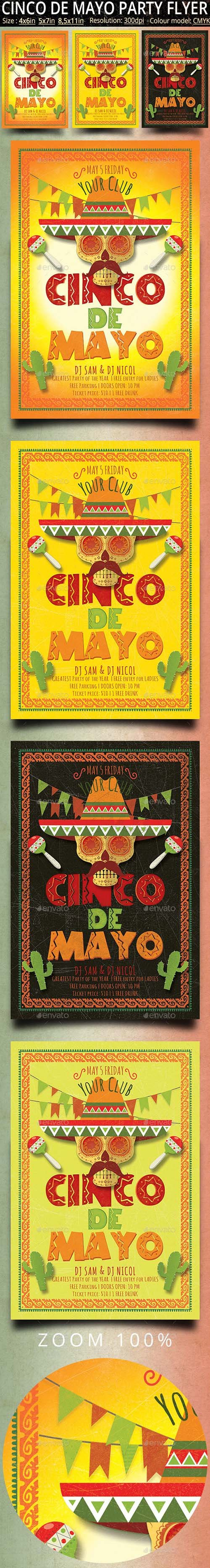 GR - Cinco de Mayo Vintage Flyer And Poster 21667486