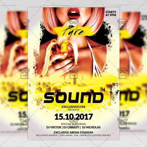 Club A5 Flyer Template - Pure Sound