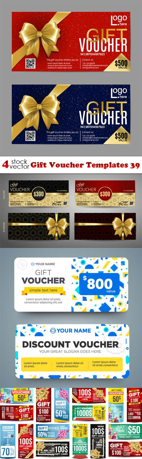 Vectors - Gift Voucher Templates 39