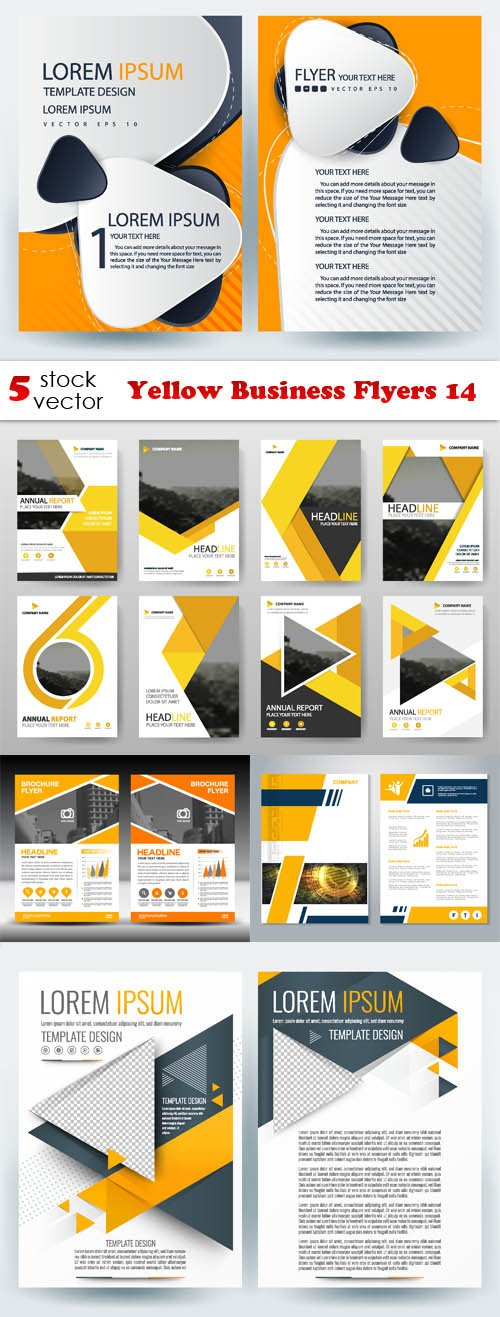 Vectors - Yellow Business Flyers 14