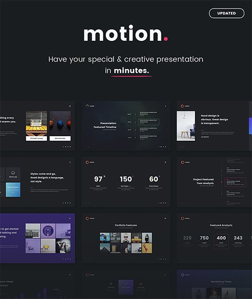 Motion - Creative & Multipurpose Template (Powepoint) 20962122