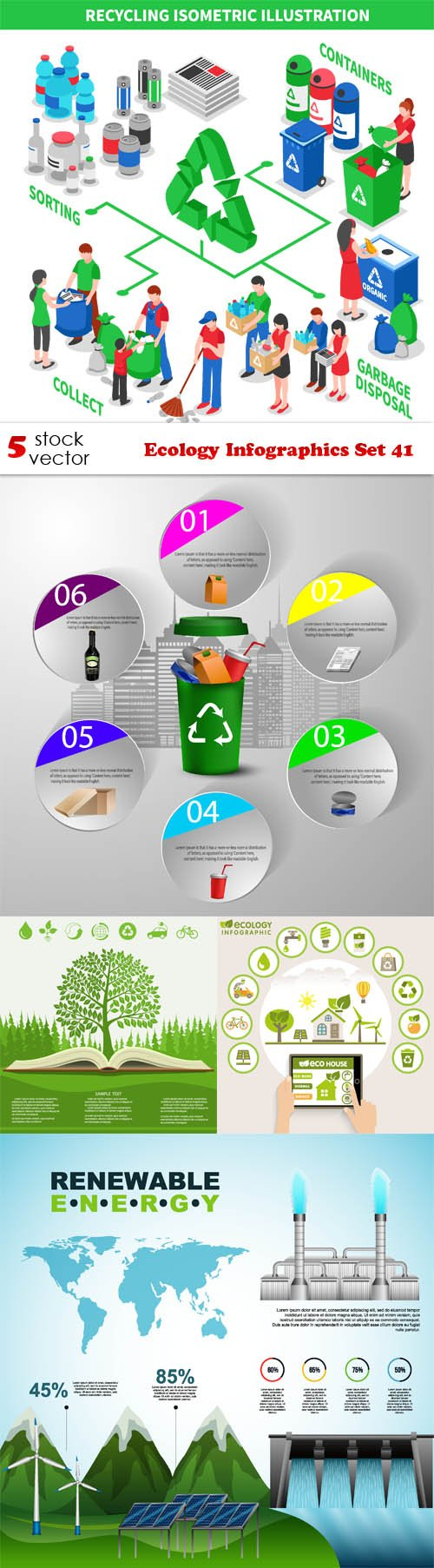 Vectors - Ecology Infographics Set 41