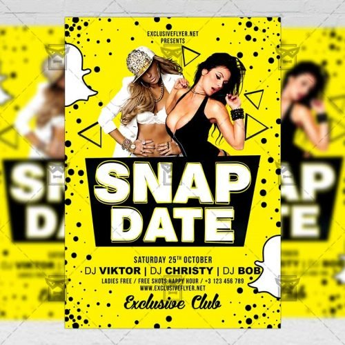 Club A5 Flyer Template - Snap Date