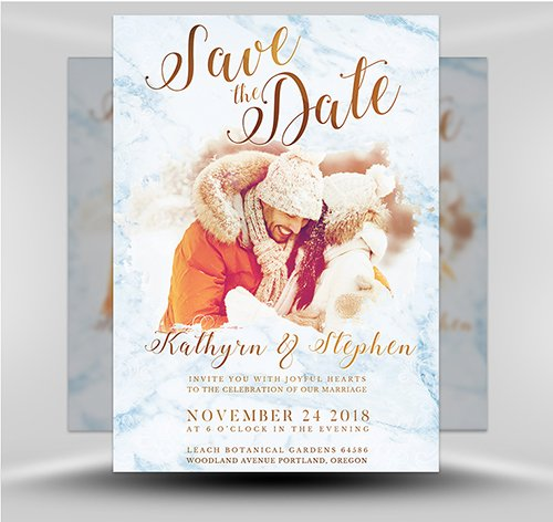 PSD - Save the Date Flyer Template 3