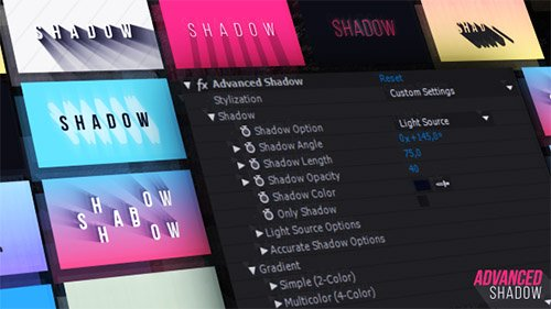 Advanced Shadow - After Effects Presets (Videohive)