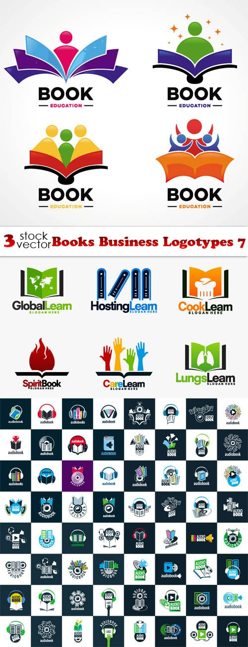 Vectors - Books Business Logotypes 7