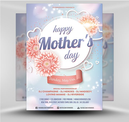 PSD Mother's Day Flyer Template v6