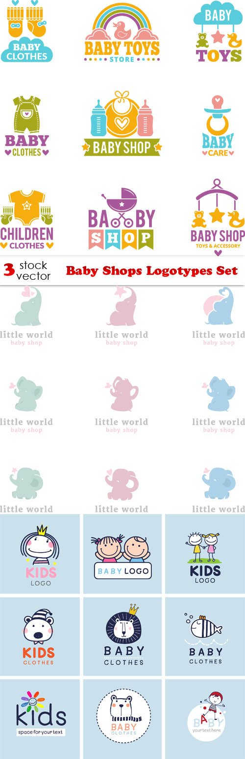 Vectors - Baby Shops Logotypes Set